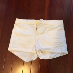 White H&M Jean Shorts